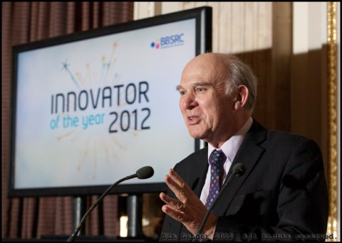 Dr Vince Cable speaking at Innovator of the Year awards, London