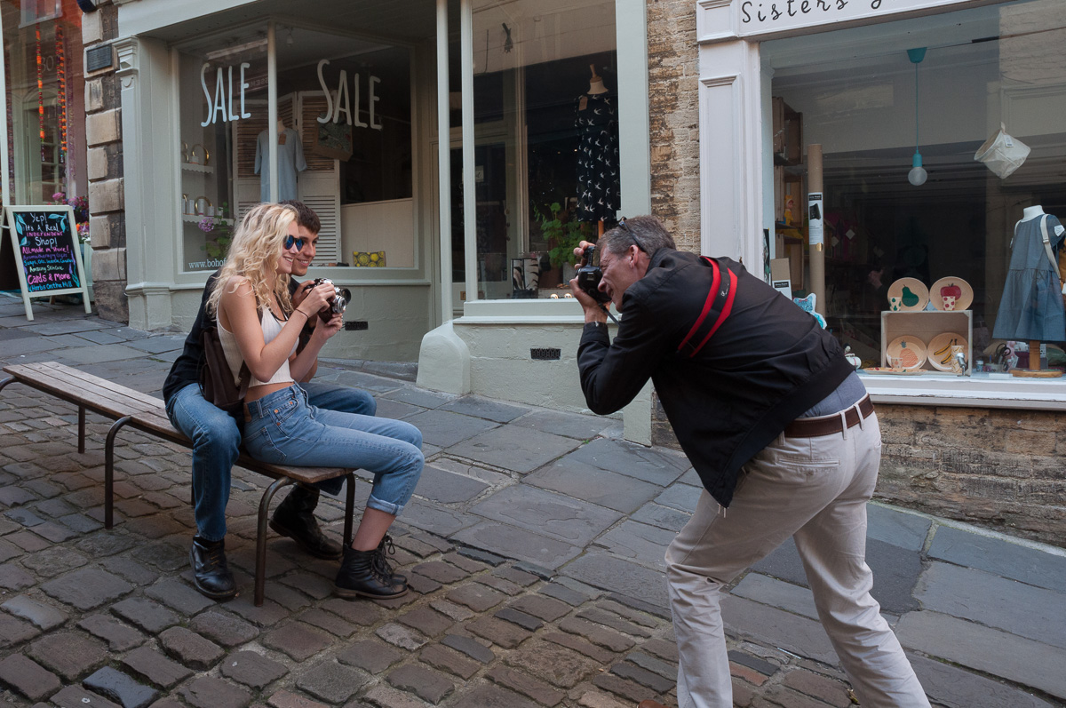 07/09/2015 Student Imogen Beard, aged 19, of Trowbridge, Wiltshire, will soon be starting her fine art degree at Chelsea College of Art, London while her boyfriend Benjamin Lincoln (18) of Bradford on Avon is about to start his BA in Music Technology at Falmouth University. Keen photographers, they enjoy taking pictures in Frome in their spare time.