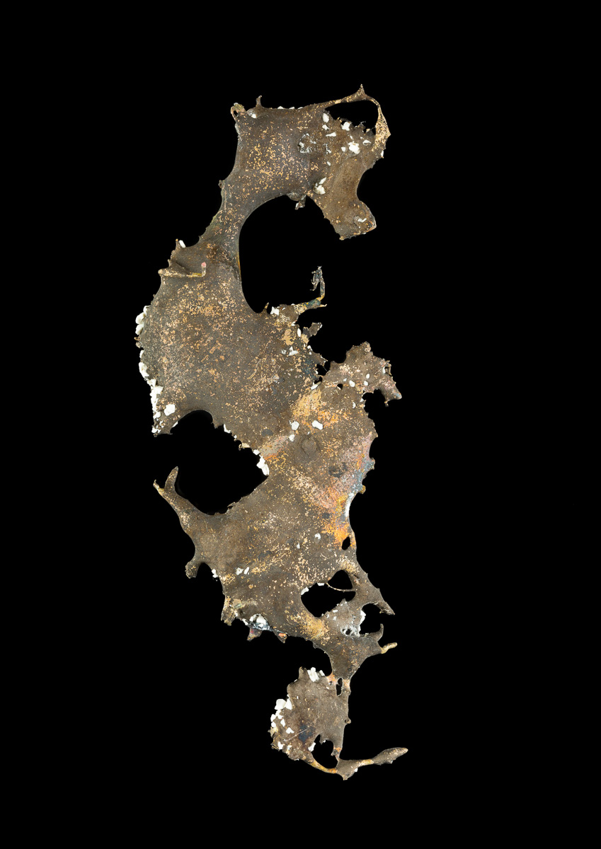 Bronze spill resembling a seahorse