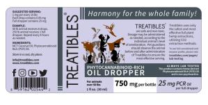 Treatibles 750mg dropper label