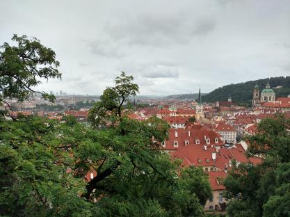 Blick über Prag vom Schloss