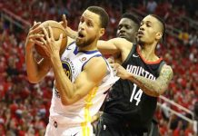 Victoria de los Warriors a los Rockets