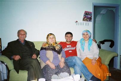 Sevket's father, mother, Sevket, and his sister