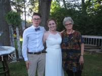 the newlyweds, Jeremy and Anna King, and me
