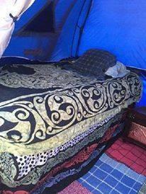 Janet VanMeter's Pennsic bed