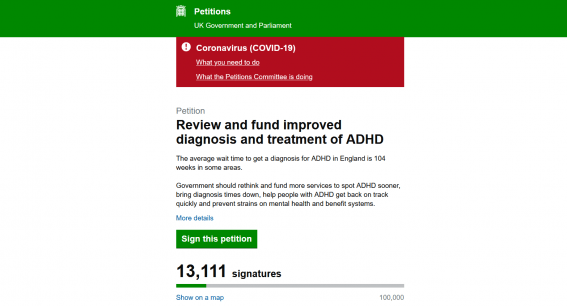 Petition Review and fund improved diagnosis and treatment of ADHD