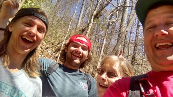 Lasley Family hiking