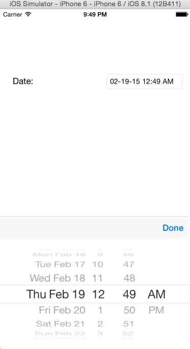 Control Datepicker From Text Field Ios Tim Leland