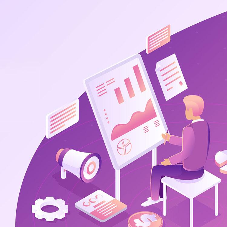 isometric business illustrations