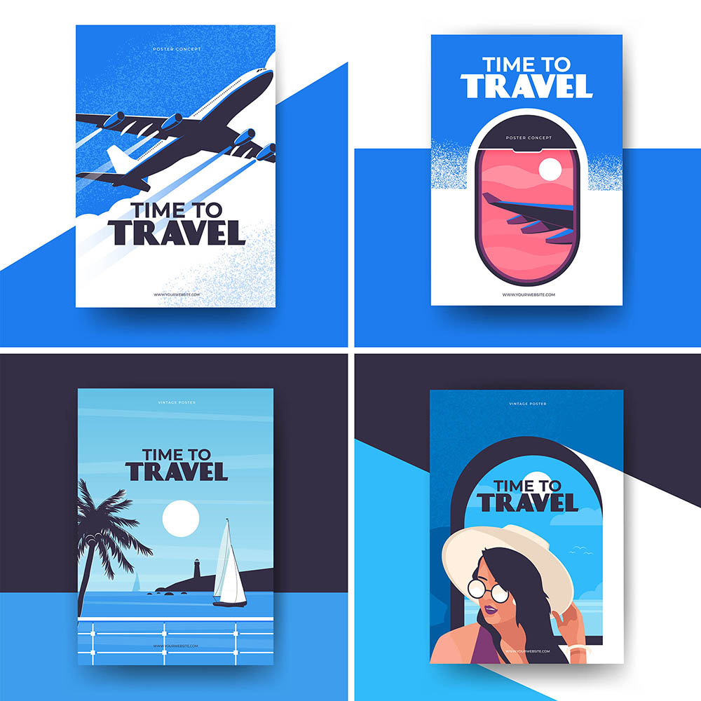 vintage travel poster designs