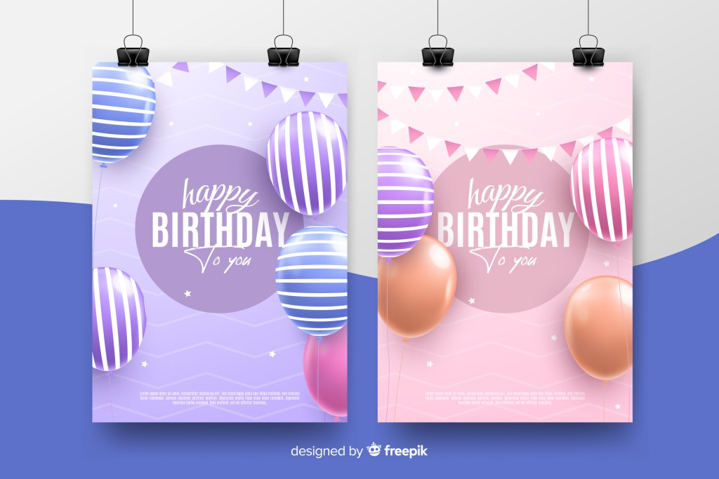 Vector Birthay Invitations