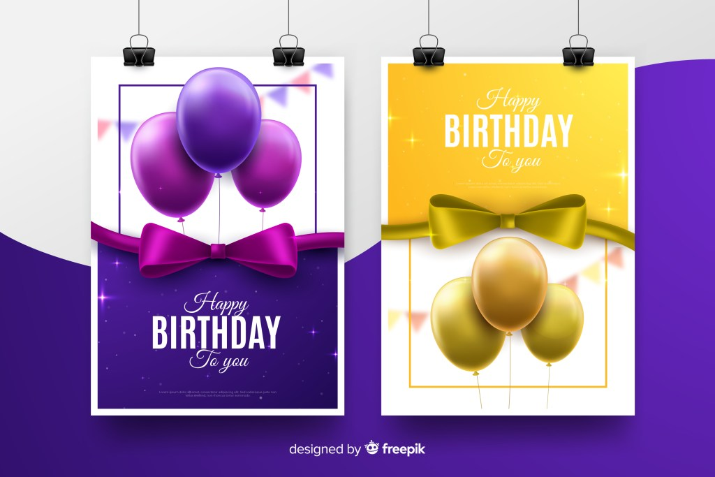 free birthday card template