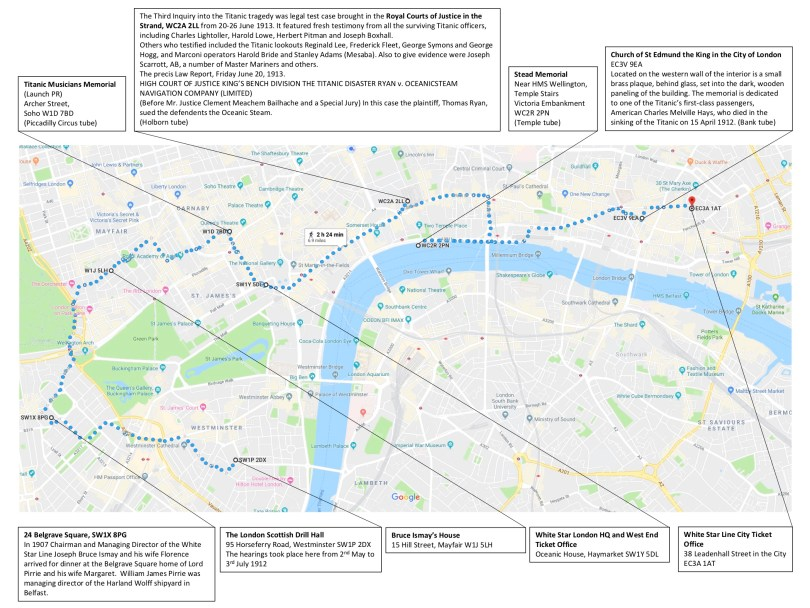 london titanic walking tour