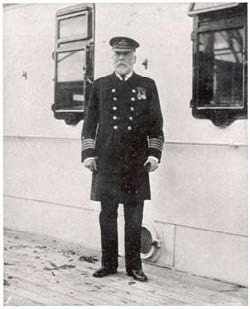 Captain Smith on board the unfinished Titanic