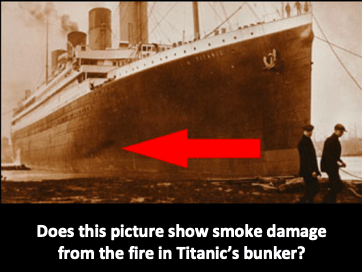 Titanic smoke damage