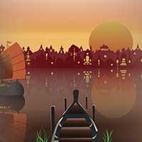 Sunrise in Thailand Illustration