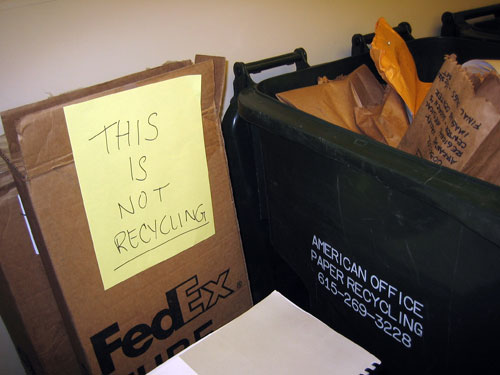 This is not recycling.