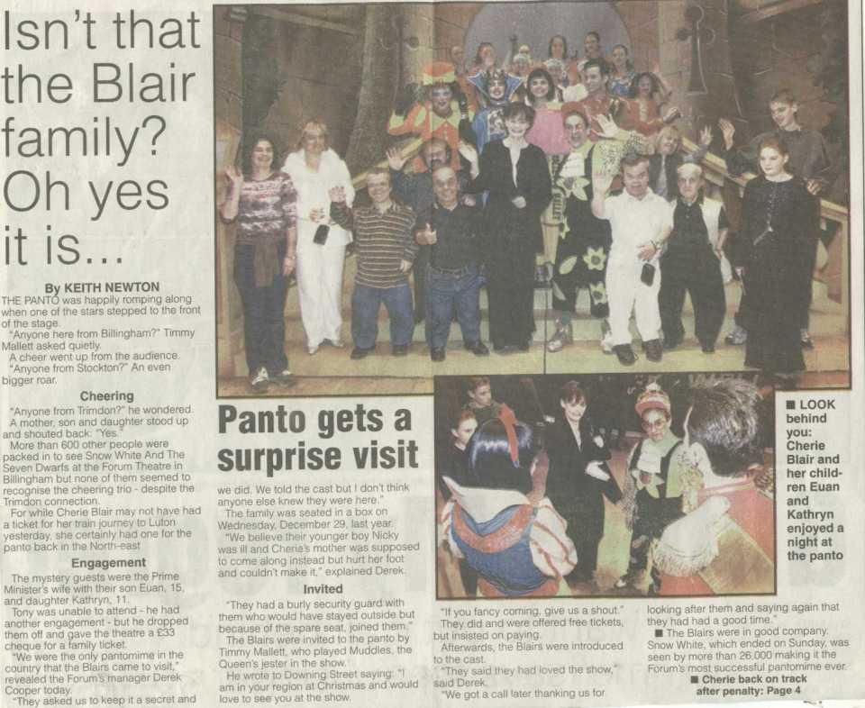 Snow White in the press.