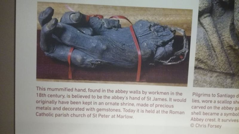 The hand of St James