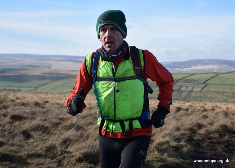 Tim running on the moors