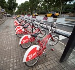 Rental bikes in Barcelona are used by locals as much as visitors.