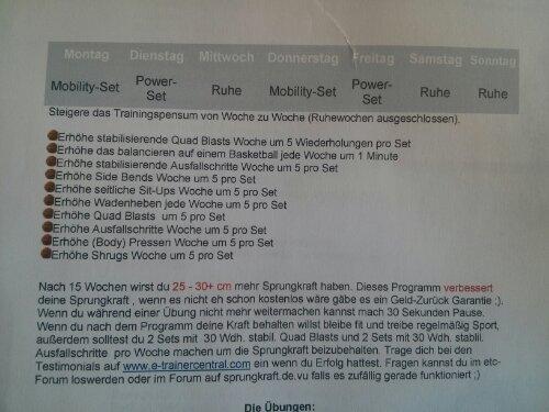 Sprungkrafttraining Sky is the limit: Wochenplan und Übungen