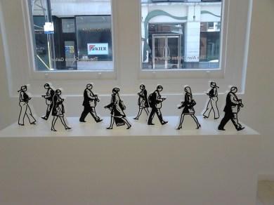 Walking in the City (2013) Julian Opie 1