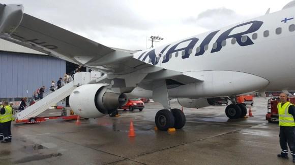 Flugzeug nach Helsinki von Finnair