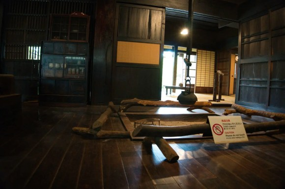 Traditionelle japanische Feuerstelle.