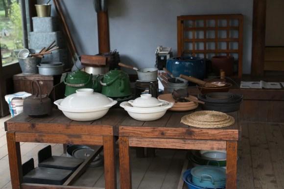 Traditionelle japanische Kochutensilien.