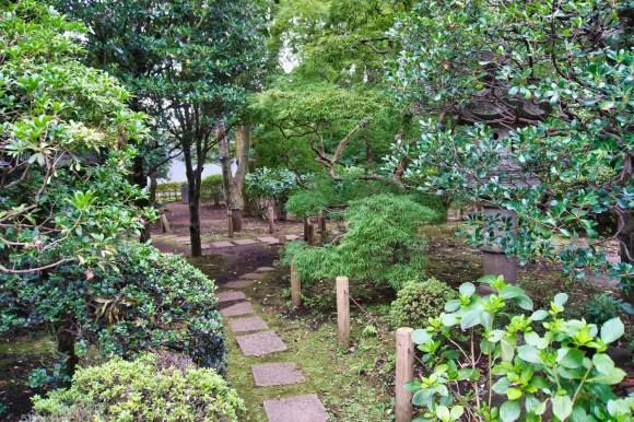 Traditioneller japanischer Garten.