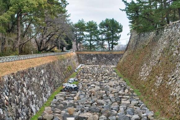 Bild des Burggrabens von Burg Nagoya