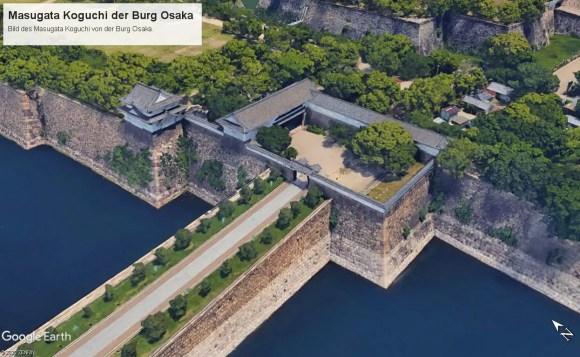 Bild von dem Masugata von Burg Osaka von Google Earth