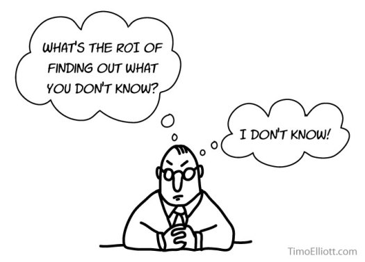 Cartoon: What's the ROI of knowing what you don't know? (I don't know, either)