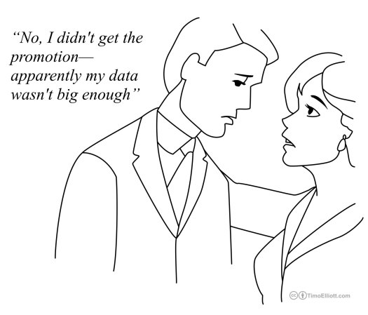 "Big Data Cartoon: ""I didn't get the promotion -- apparently my data wasn't big enough"""