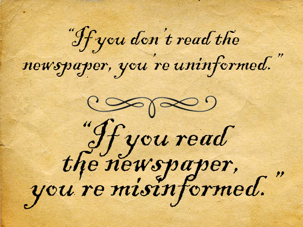 misinformed quote