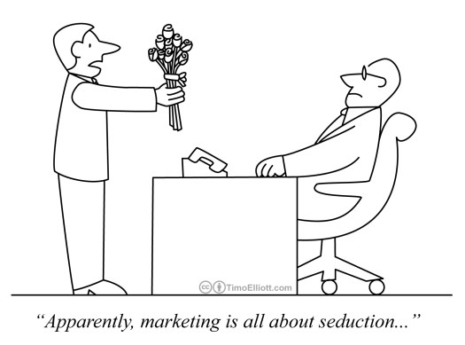 Cartoon: Apparently marketing is all about seduction