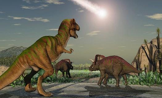 digital transformation - dinosaurs and meteor