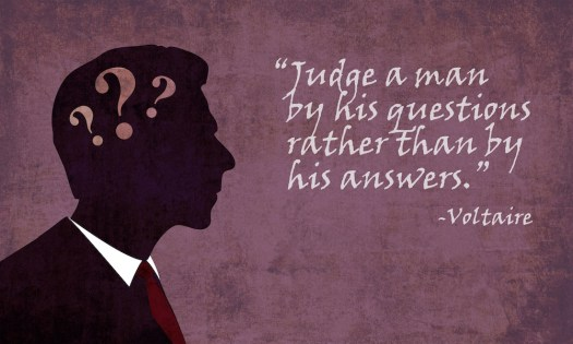 judge a man by his questions small