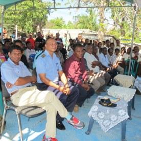 Local officials filled the front row: School principal, local police chief, director of Manatutu municipality, Manatutu education director, and Manatutu health director.