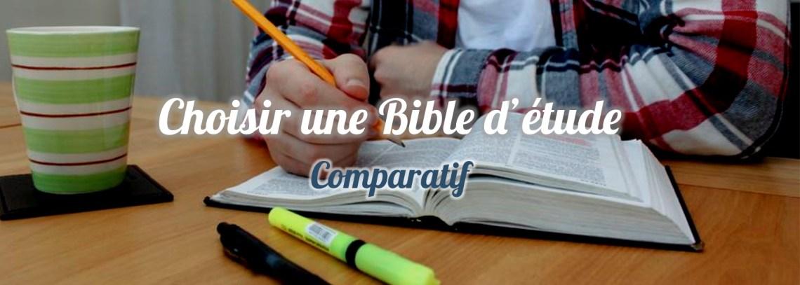 Diapo comparatif bibles d'étude