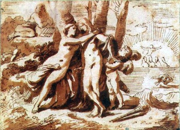 Recherche au Lavis – Nicolas Poussin – XVIIem Siècle – France/Italie