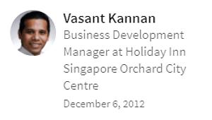 Digital Marketing Consultant Singapore - Testimonial - By Vasant