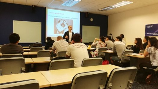 Dr Markus Delivering Lecture To His Class