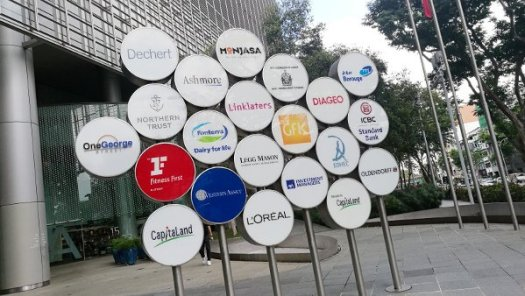 Signage of Companies at One George Street