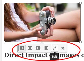 image in wordpress body