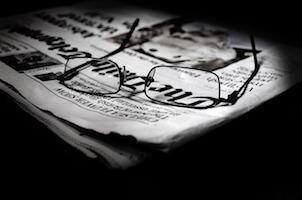 newspaper heading