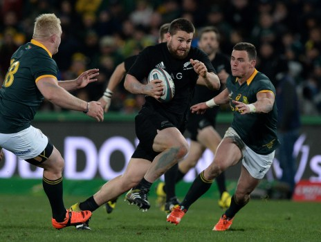 JOHANNESBURG, SOUTH AFRICA - JULY 25: Dane Coles of New Zealand breaks away during The Castle Lager Rugby Championship 2015 match between South Africa and New Zealand at Emirates Airline Park on July 25, 2015 in Johannesburg, South Africa. (Photo by Duif du Toit/Gallo Images/Getty Images)