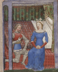romance in medieval chansons and epic poems, exaggeration of emotion in literature