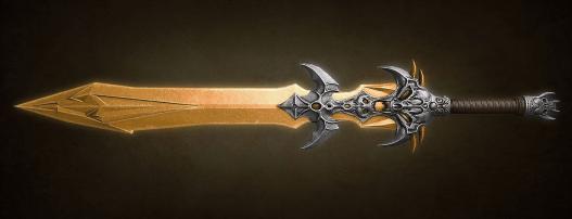 unrealistic fantasy sword